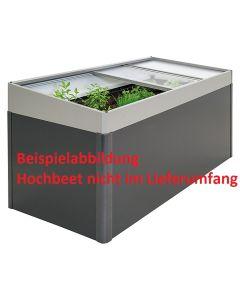 Biohort Frühbeetaufsatz für Hochbeet 2x1 quarzgrau-metallic