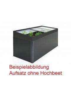 Biohort Frühbeetaufsatz für Hochbeet 2x1 dunkelgrau-metallic