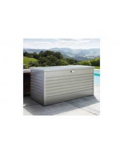 Biohort FreizeitBox Gartenbox / Kissenbox Metall Größe 130, quarzgrau-metallic