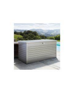 Biohort FreizeitBox Gartenbox / Kissenbox Metall Größe 160, quarzgrau-metallic