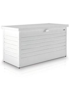 Biohort FreizeitBox Gartenbox / Kissenbox Metall Größe 130, weiß