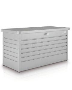 Biohort FreizeitBox Gartenbox / Kissenbox Metall Größe 130, silber-metallic