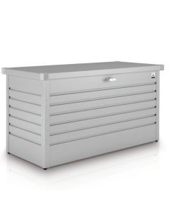 Biohort FreizeitBox Gartenbox / Kissenbox Metall Größe 180, silber-metallic