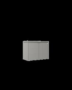 Biohort HIGHBOARD Eleganter Gartenschrank aus Metall Gr. 160 quarzgrau-metallic