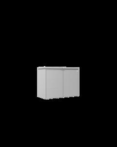 Biohort HIGHBOARD Eleganter Gartenschrank aus Metall Gr. 160 silber-metallic