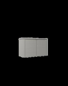 Biohort HIGHBOARD Eleganter Gartenschrank aus Metall Gr. 200 quarzgrau-metallic