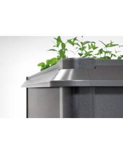 Biohort SCHNECKENSCHUTZ passend für Hochbeet Größe 2x1 dunkelgrau-metallic